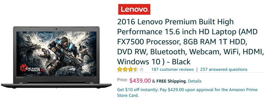 2016 lenovo premium laptop
