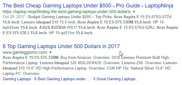 gaming laptops under 500 google search results