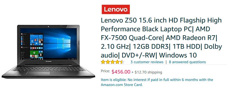 lenovo Z50 laptop