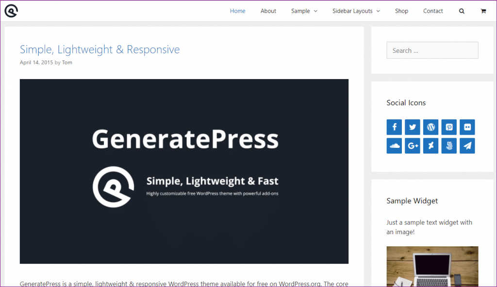 generatepress demo