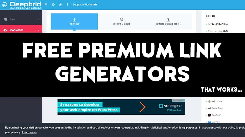 Best 13 Free Premium Link Generator Working in 2019
