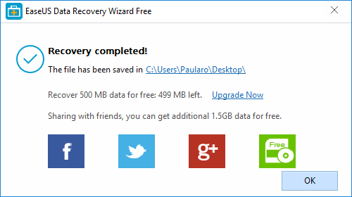 easeus data recovery wizard free recovery complete