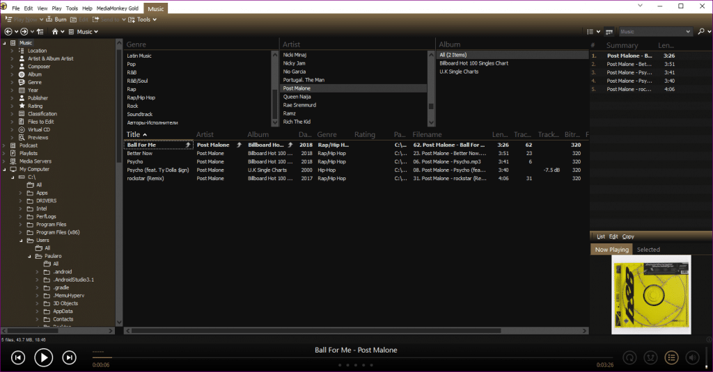 mediamonkey organize music files