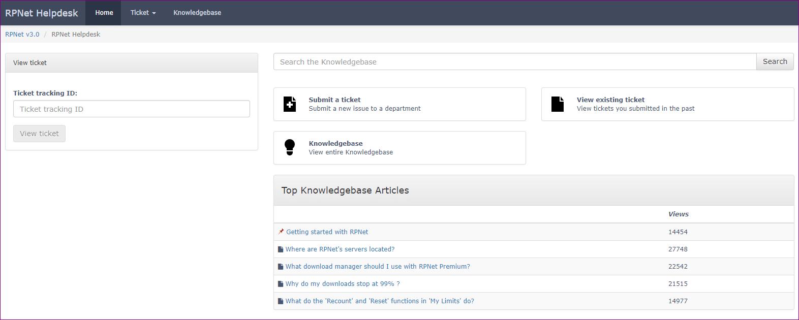 RPnet help desk