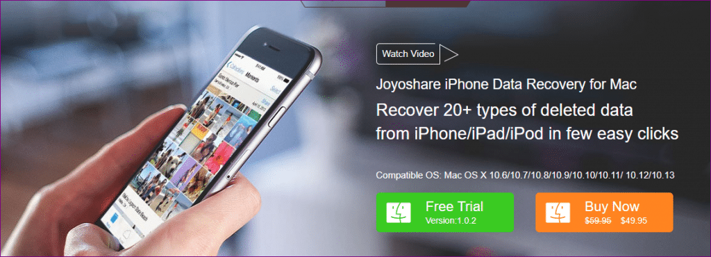 joyoshare iphone data recovery for mac