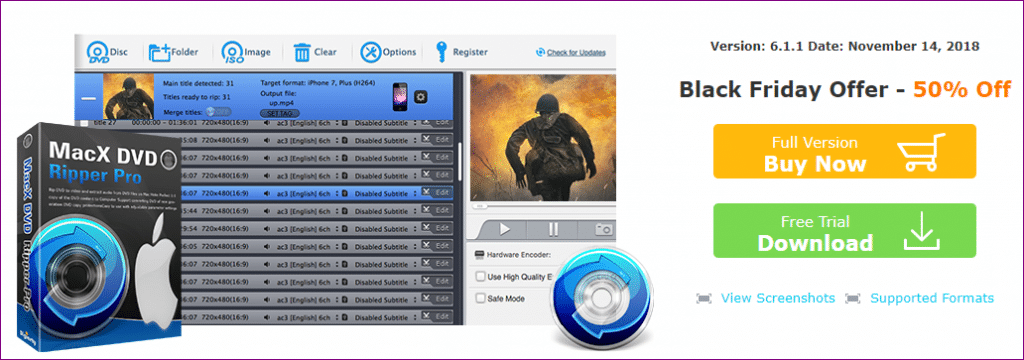 MacX DVD Ripper Pro black friday sale