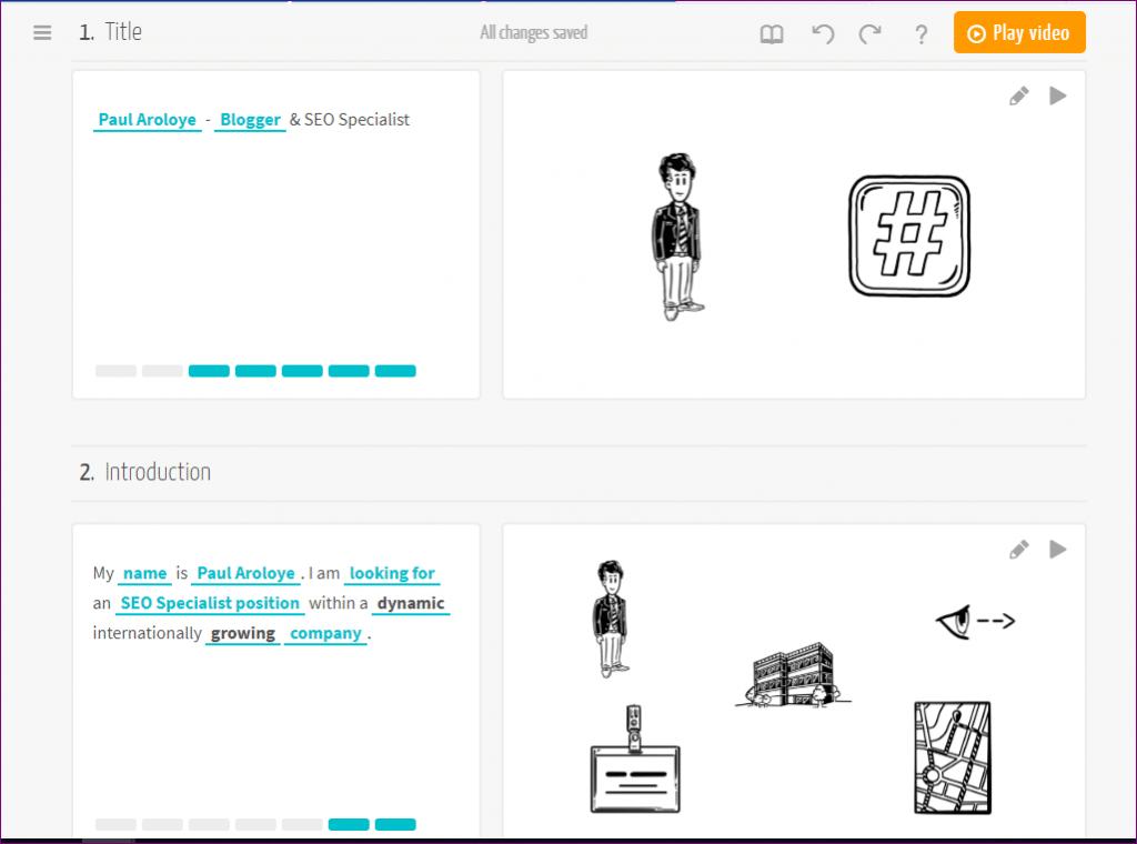 visualize explainer videos