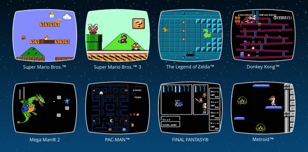 retro tech classic games