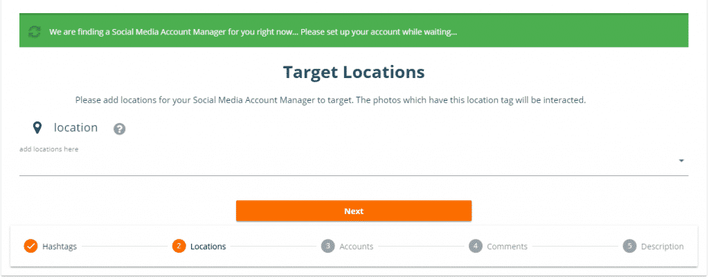 target locations to get instgram followers