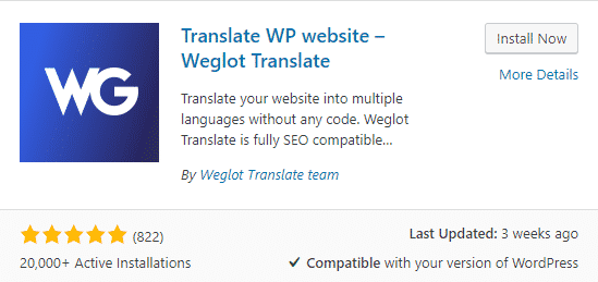 install weglot wordpress plugin