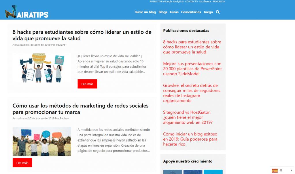 nairatips multilingual spanish language