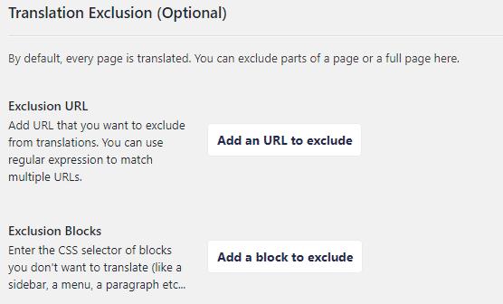 weglot translation exclusion