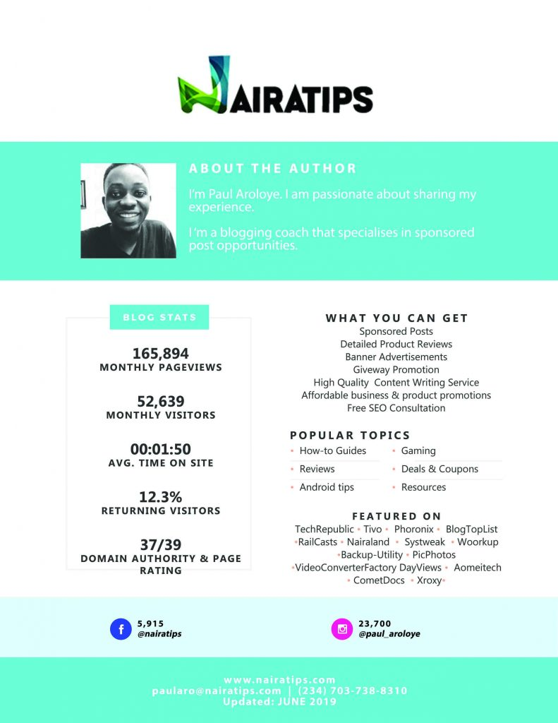 Nairatips May 2019 Media Kit
