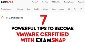 examsnap vmare certified