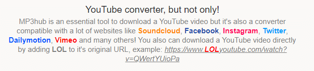 mp3hub youtube converter