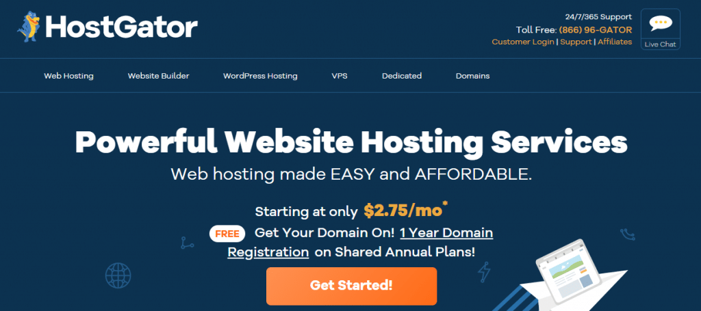 Hostgator best web hosting for writers