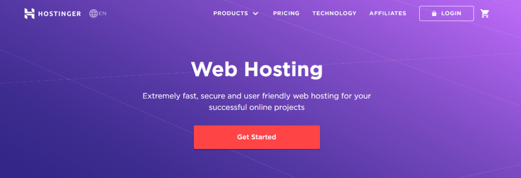 Hostinger best webhosting for writers