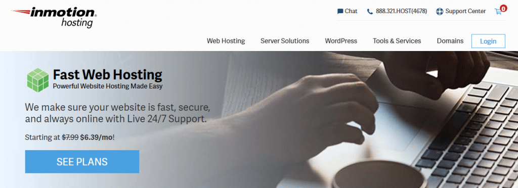 Inmotionhosting best webhosting for writers