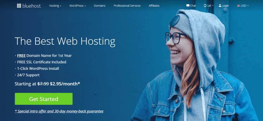 bluehost best webhosting for bloggers