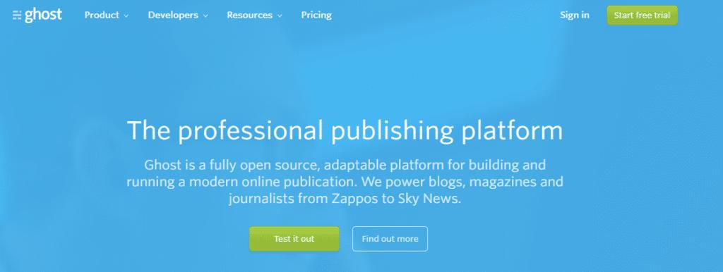 ghost easiest best blogging platform to make money