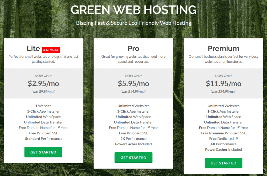 greengeek $2.95 shared hosting