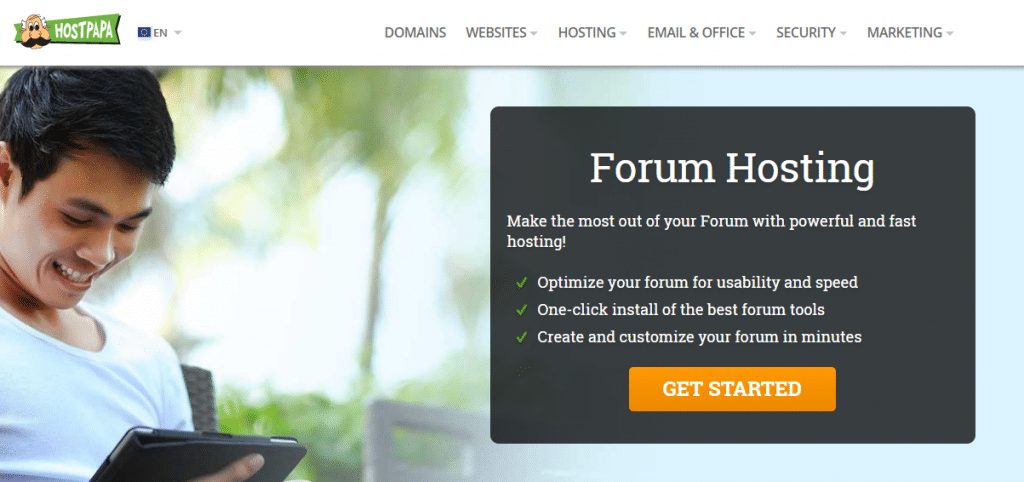 hostpapa web hosting for forum
