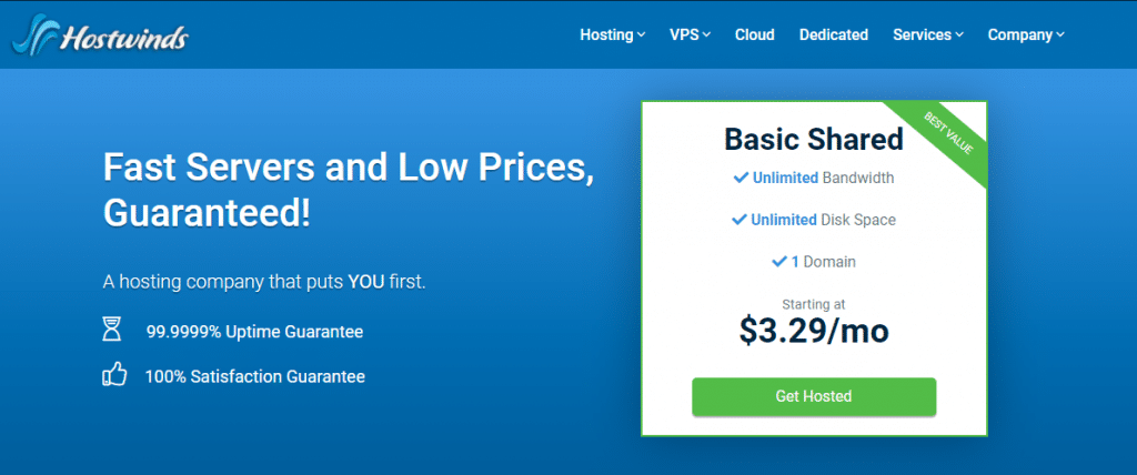 hostwinds best website hosting for blogs
