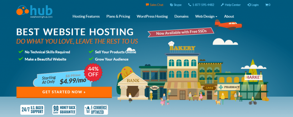 webhosting hub ecommerce website hosting foe blogs