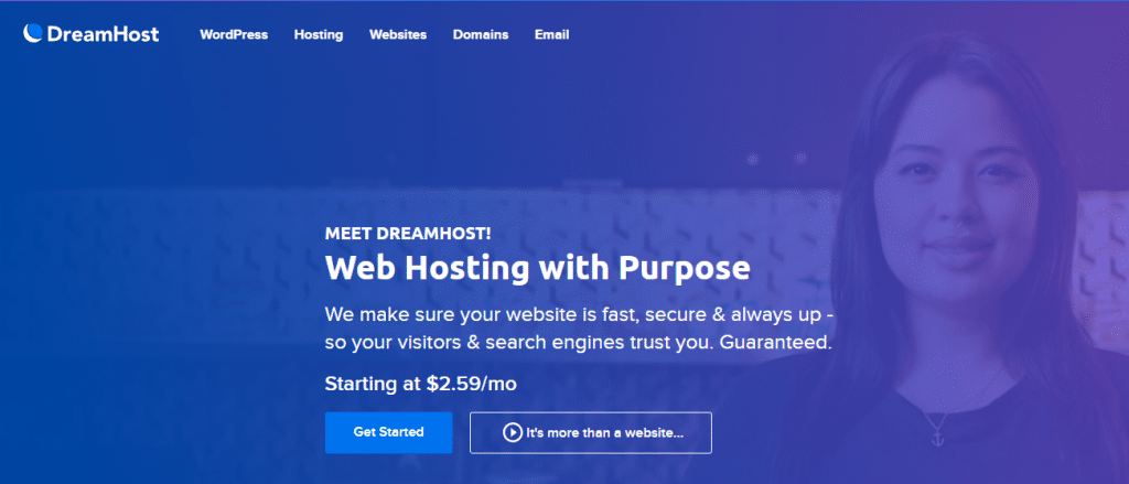 Dreamhost wordpress hosting for small business