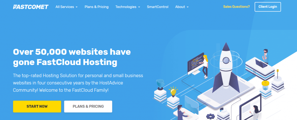 FastComet hosting for freelancers