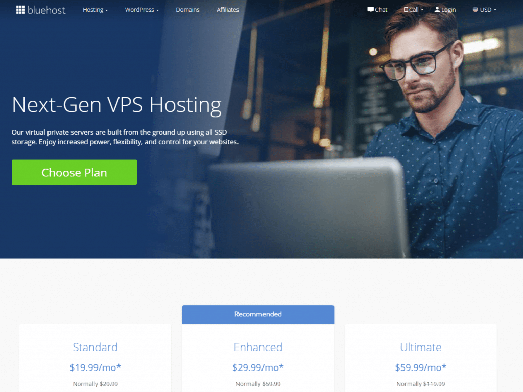 bluehost vps hosting comparison