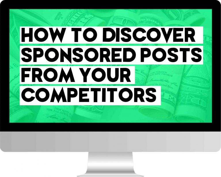 how to discover sponsored posts from your competitors