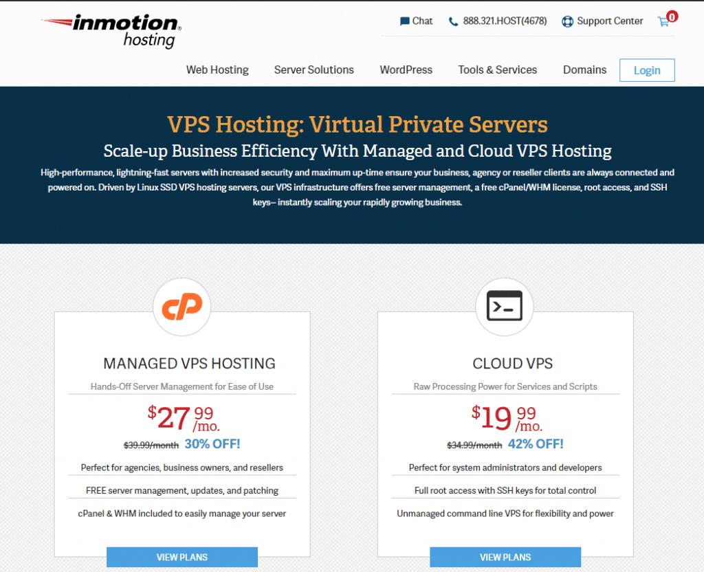 inmotionhosting best web hosting vps