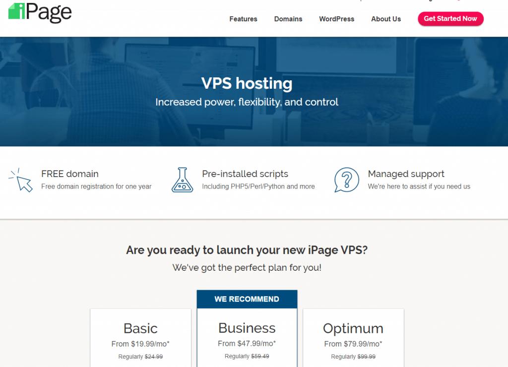 ipage vps hosting