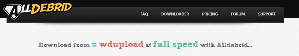wdupload alldebrid downloader